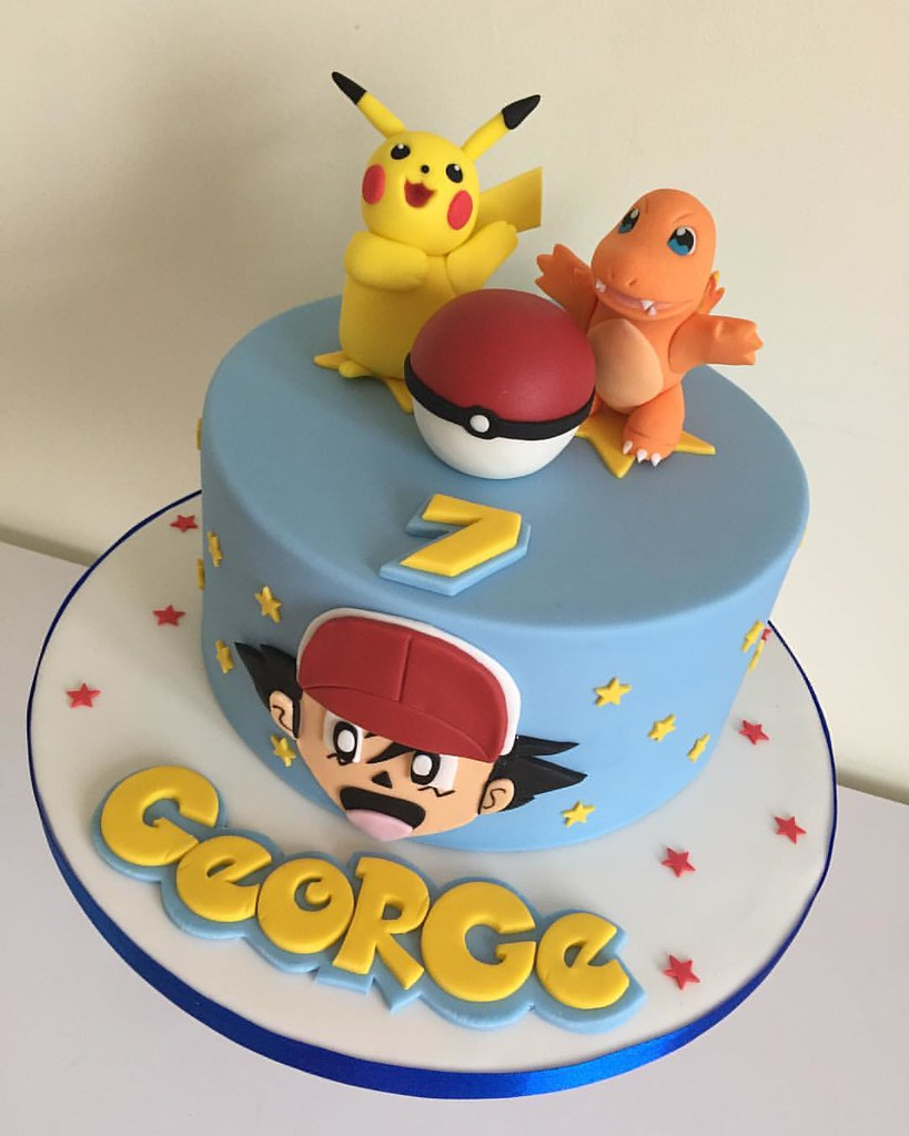 Admirable The Second Pokemon Cake Of The Weekend Cake Cakedesig Flickr Funny Birthday Cards Online Elaedamsfinfo