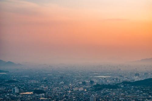sunset 夕焼け 高松 takamatsu 八栗寺