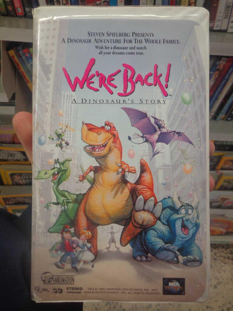 We're Back: A Dinosaur's Story (1994, VHS) -- MCA/Universa