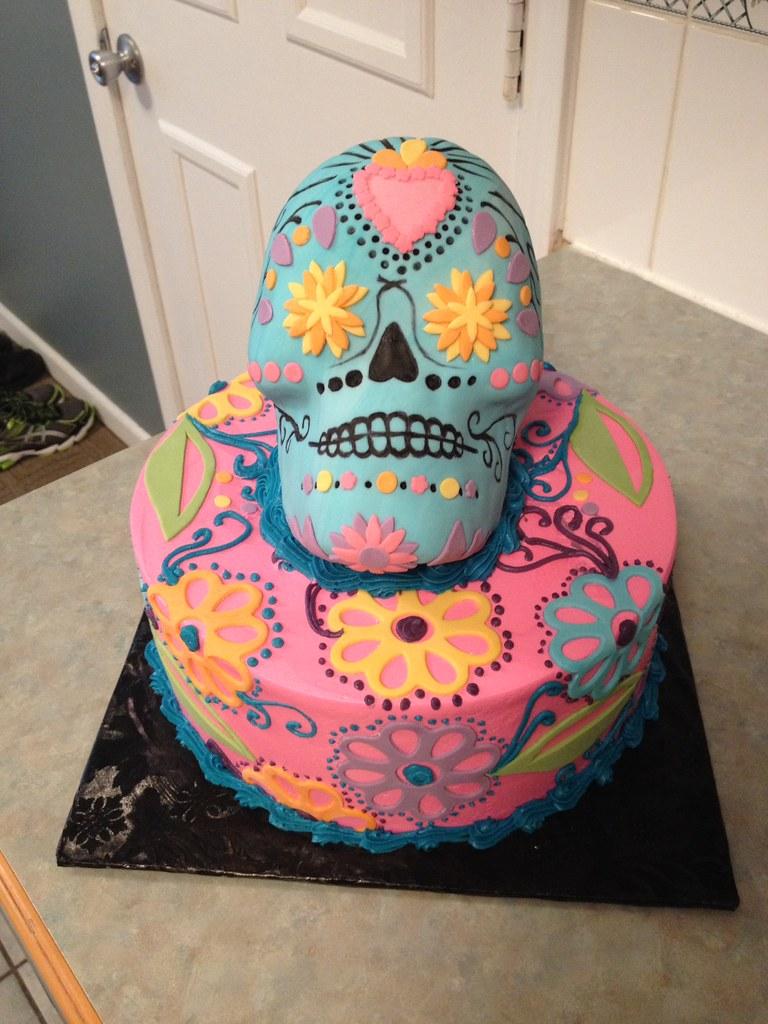 Remarkable 3D Sugar Skull Birthday Cake Grace Ful Cakes Flickr Funny Birthday Cards Online Eattedamsfinfo