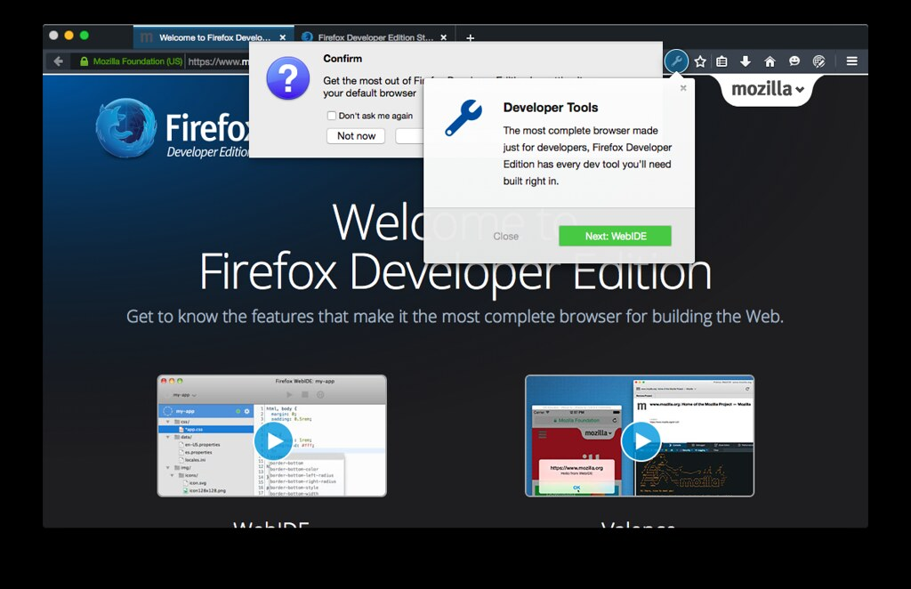 Firefox Developer Edition, I want to like you but we're no