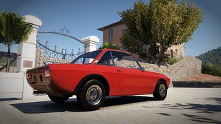 Lancia Fulvia in AMC Firecracker Red   by Populuxe Cowboy