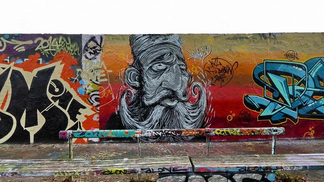 20141009 Berlin Prenzlauer Berg Mauerpark Graffiti Berliner Mauerweg (32)