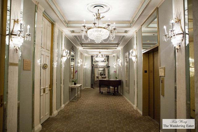 Hallway leading to the event space/dinner