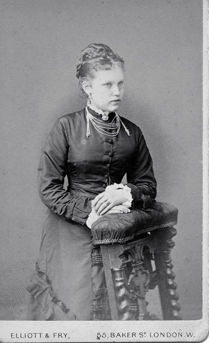 Lovely Victorian lady, possibly Miss Cawston