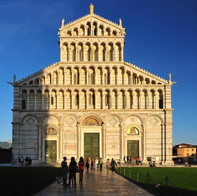 Cathedral façade, Piazza dei MIracoli, Pisa, Tuscany, Italy 262
