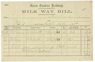 Great Eastern Railway Milk Waybill 1914 | by ian.dinmore