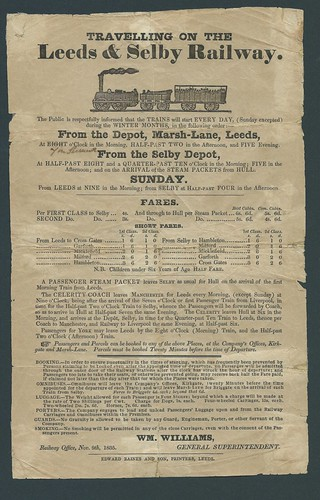 Leeds and Selby Time bill 09 November 1835 | by ian.dinmore