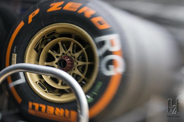 Pirelli hard compound tires for Romain Grosjean