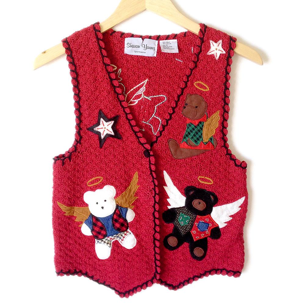 Little brown Teddy Bear in blue vest/ Crochet toy / Crochet | Etsy | 1000x1000
