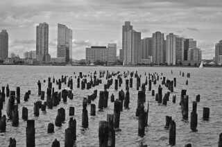 Pilings walk to Jersey City, New York City view, | by David McSpadden