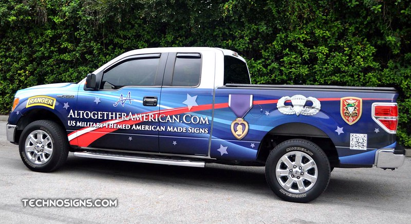 Pickup truck wrap by TechnoSigns in Orlando