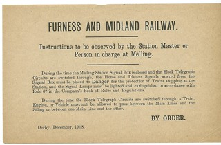Furness and Midland Railway Station Masters Instructions 1908 | by ian.dinmore