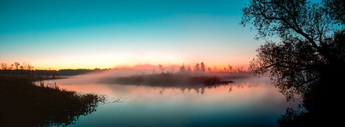 mist lake fog sunrise dawn foggy calm