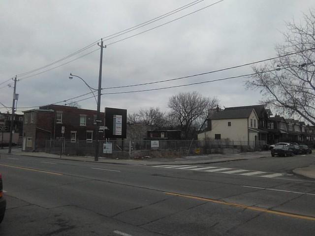 Empty lot, Dupont at Westmoreland #toronto #dovercourtvillage #dupontstreet #westmorelandavenue #vacant
