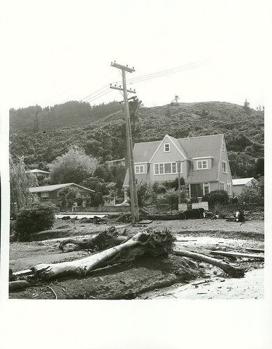 Storm damage in Stokes Valley, December 1976. | by Archives New Zealand