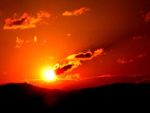 sunset sun sunlight red serbia southeast europe