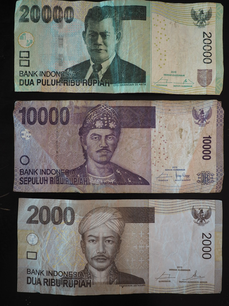 Indonesian Currency Indonesian Rupiah IDR Money Bank Not