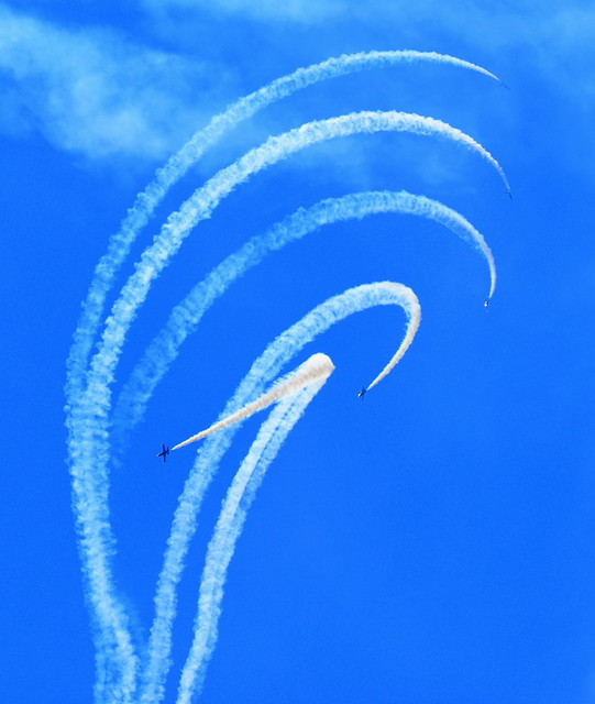 GRACE IN THE SKY....THE BRIETLING TEAM FROM FRANCE.  THE ABBOTSFORD AIR SHOW,  BC.