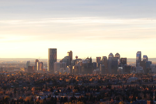 calgary fall sunrise