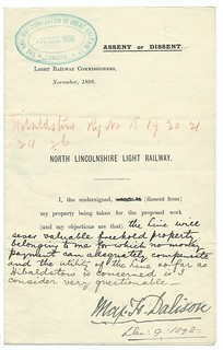 North Lincolnshire Light Railway Notice seeking support 1898   by ian.dinmore