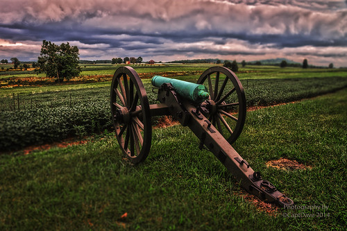 12 Pounder Howitzer Hill's Corps Gettysburg, PA HDR