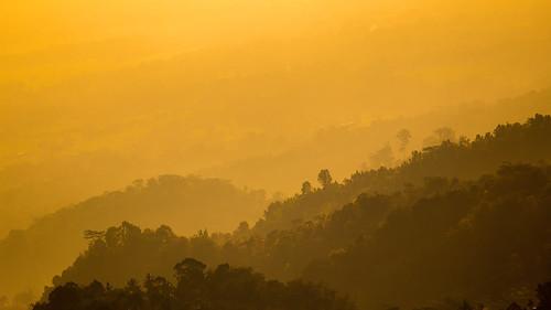 sunset indonesia java mount lawu sukuh