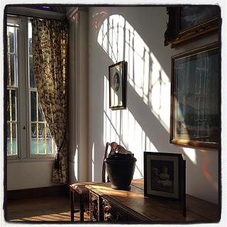 Sunny morning room, Westport House, County Mayo, Ireland