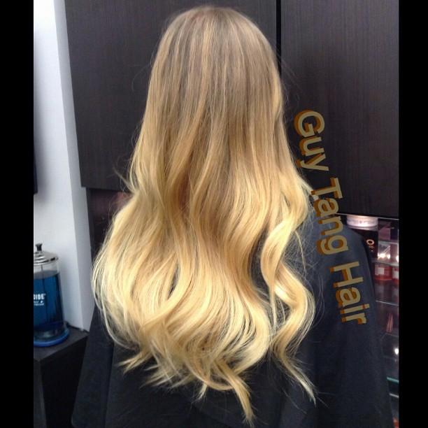 Golden blonde Balayage Ombre by guytang guy_tang guytan