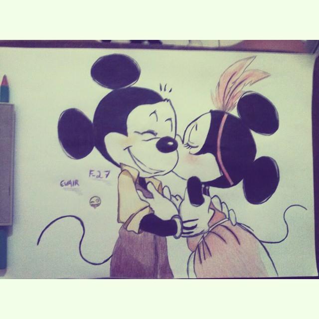 Terminadoo D Draw Drawing Desenho Minnie Mickey Dis Flickr
