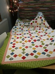 Furiously fast tile quilt top done