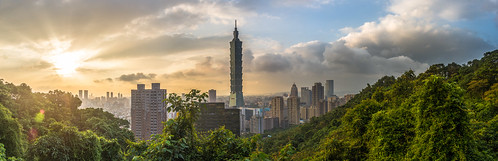Taipei 101 Sunset Panorama | by Sjekster