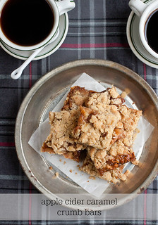 Apple Cider Caramel Crumb Bars | by Smells Like Home