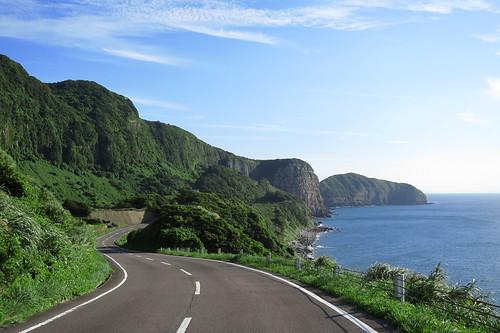 road japan island nagasaki 長崎 hirado ikitsuki sunsetway 平戸 生月島 生月島サンセットウェイ 生月農免農道