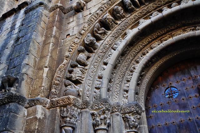 405 - Portada Sur - Iglesia Santa María - Uncastillo (Zaragoza) - Spain.