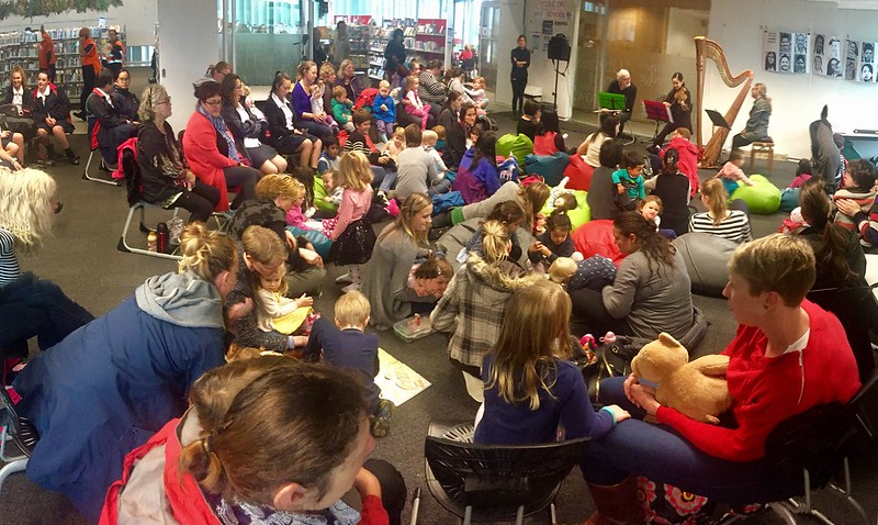 Audience for CSO ensemble, Upper Riccarton Library