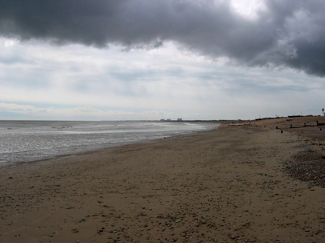 View back to Dungeness from Littlestone-on-Sea