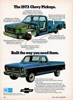1973 Chevrolet Pickup Ad (Canada)