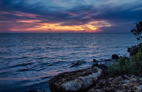 flowers sunset water beautiful clouds evening rocks waves glow sundown florida shoreline shore puntagorda fl peaceriver pgi charlotteharbor stephenfrazier puntagordaisles poncedeleonhistoricalpark stevefrazierphotography