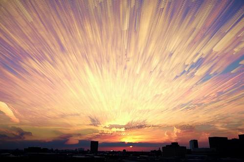 sunset chicago timelapse cloudtrails starstax timestack
