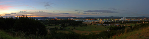 sunset panorama oregon twilight longviewwashington rainieroregon