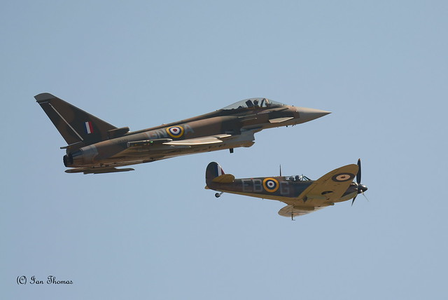 Euro Fighter Takes On A Spitfire