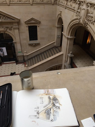 Meeting with the groupe in Palais de Rumine, Lausanne #urbansketchers #switzerland #uskswitzerland | by nyiramvura
