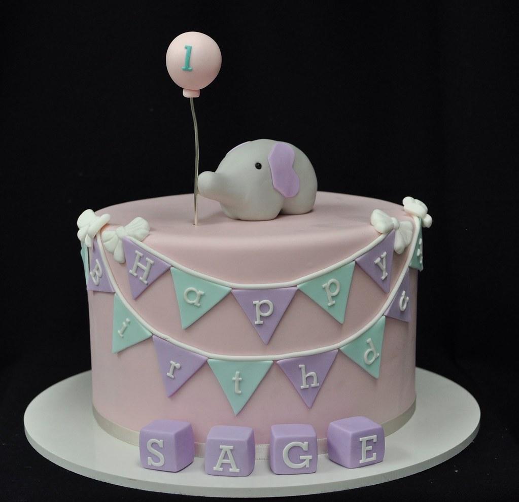 Brilliant Elephant Birthday Cake Jenny Wenny Flickr Funny Birthday Cards Online Necthendildamsfinfo