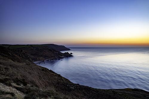 sunset cornwall cliffs widemouthbay