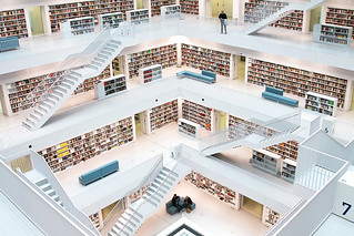 Stuttgart Public Library, Germany   by o palsson