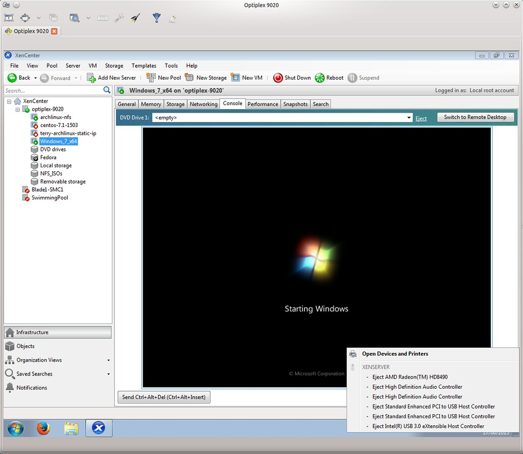 Windows 7 VM on XenServer 6 5 SP1 with GPU (AMD Radeon HD8