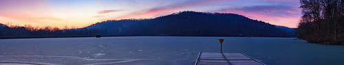 kwtracyghostship lake sunrise westernpa raccooncreekstatepark commonwealthpa clinton pennsylvania unitedstates us frozen jetty colorful nature scenery lakescape hills colour winter desolate quiet moody icy chill canon dcnr dock