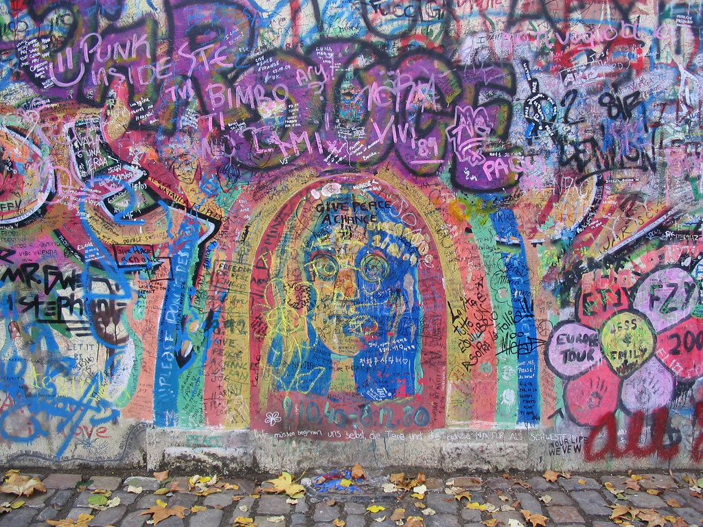 John Lennon Wall, Prague, 2004