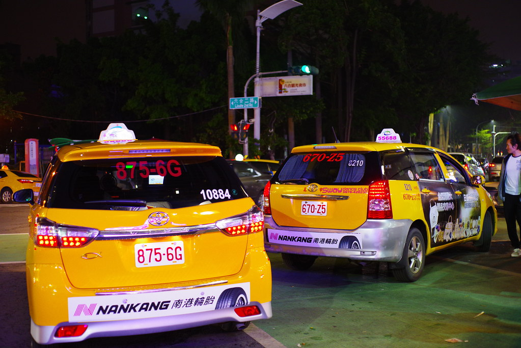 Yellow taxi in Taiwan
